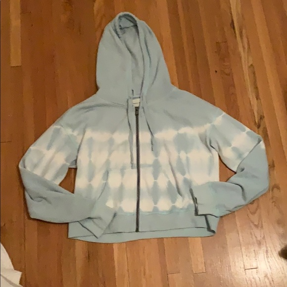 American eagle blue and white zip up hoodie